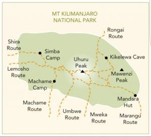 Kilimangiaro Map
