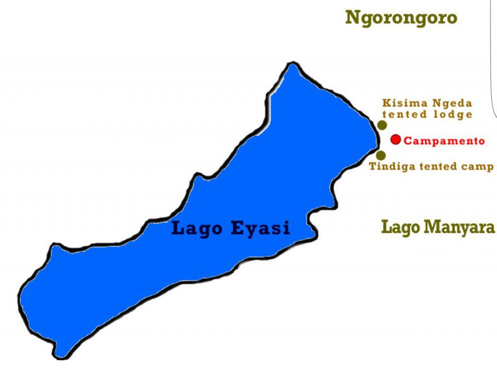 mappa Lago Eyasi