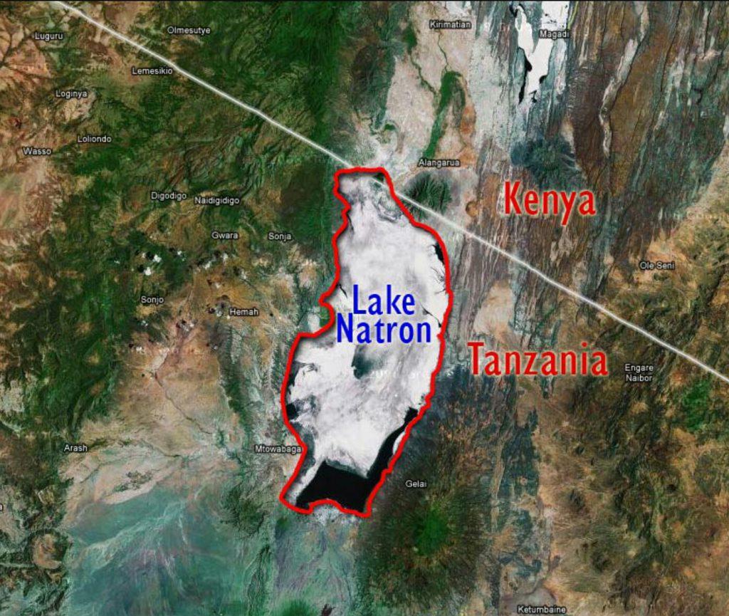 mappa Lago natron