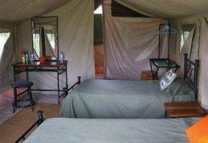 letti campo tendato serengeti