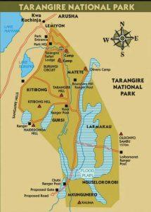 mappa tarangire national park