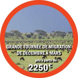 Grande tournée de migration de décembre à mars
