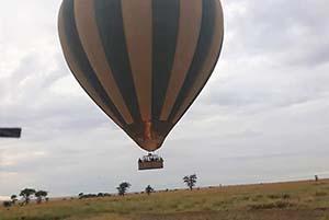safari en montgolfière au Serengeti