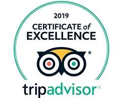 Certificato d'eccellenza TripAdvisor