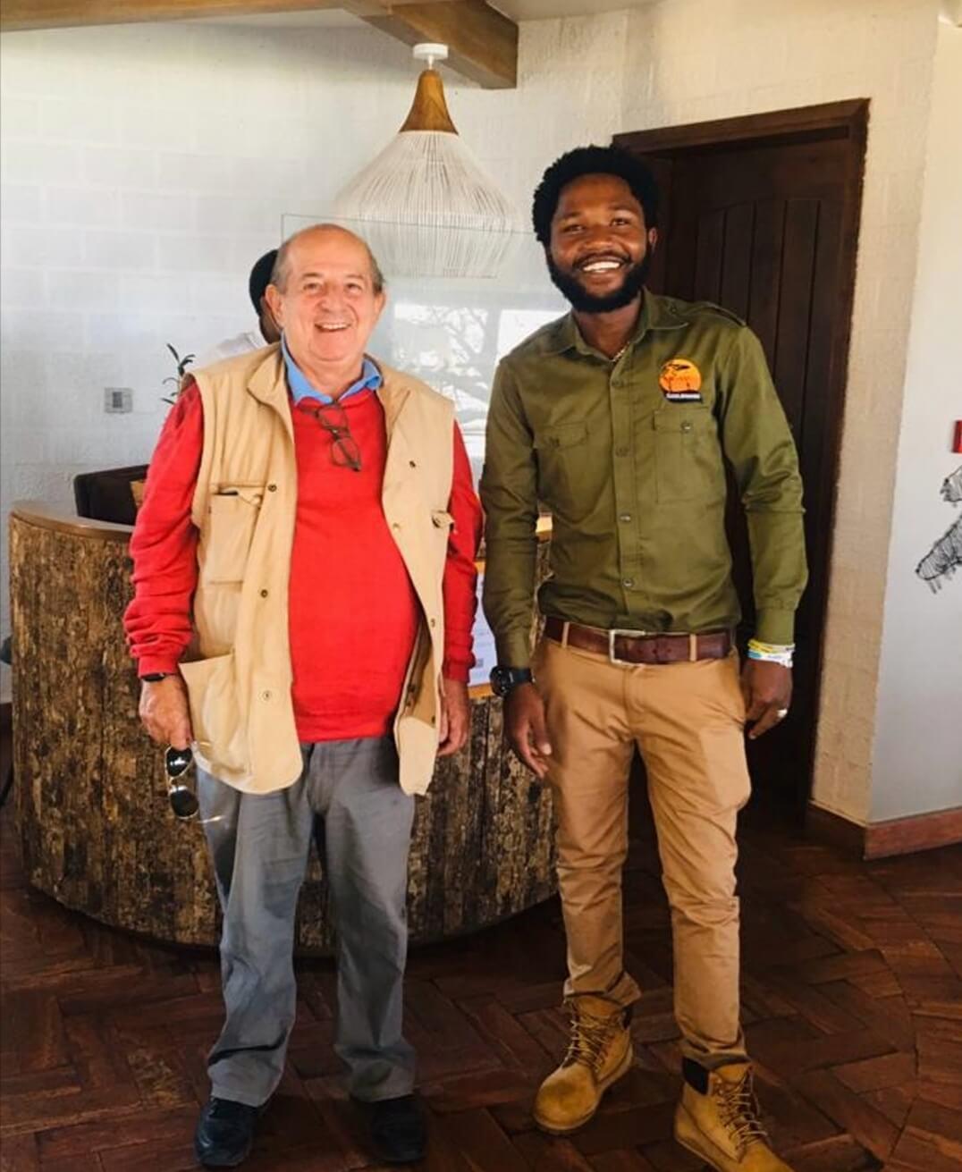 Giancarlo Magalli con Safari Avventura