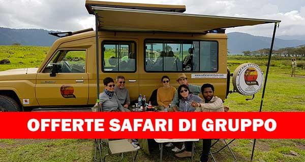 Offerte safari tanzania di gruppo
